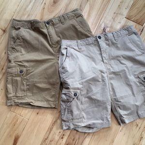 2 pair Mens Cargo shorts